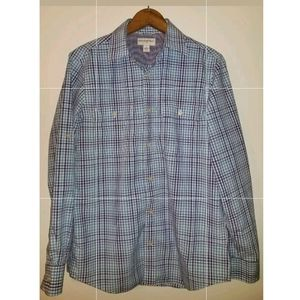 Banana Republic Mens Long Sleeve Casual Shirt Blue